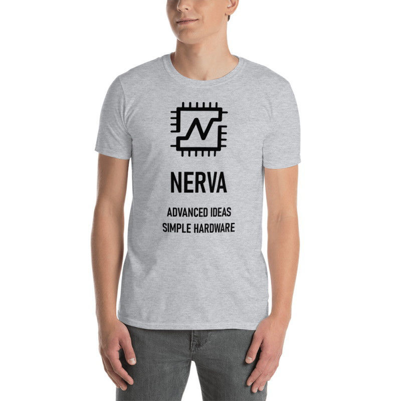 Nerva (XNV) - unisex t-shirt - black design - sport grey