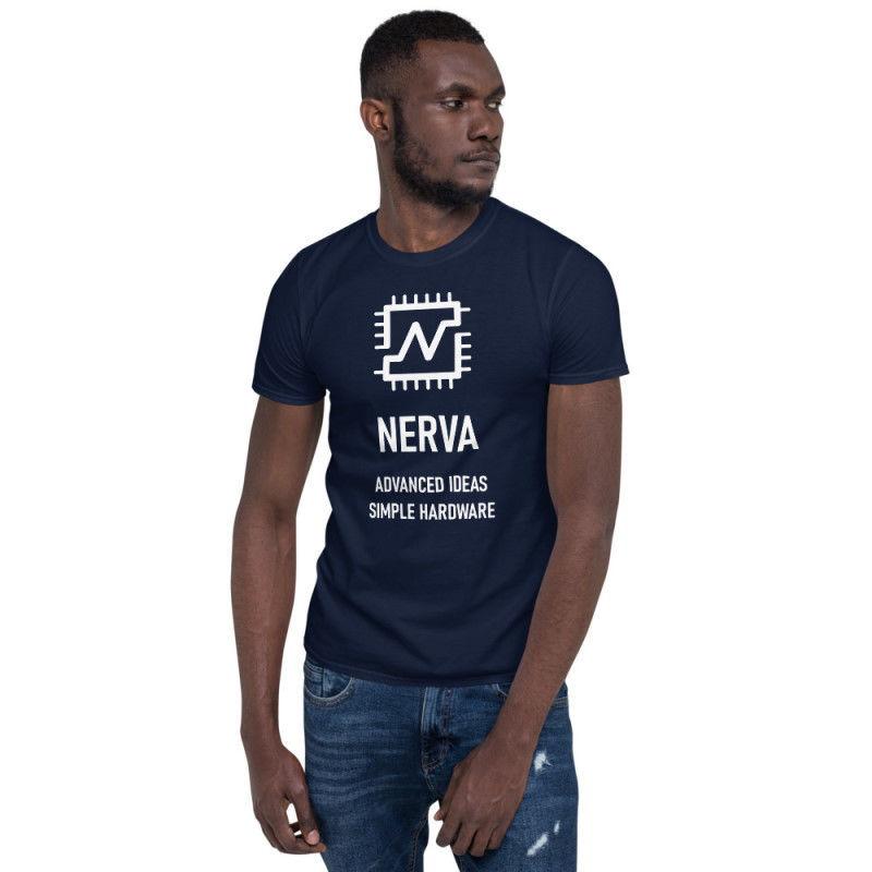 Nerva (XNV) - unisex t-shirt - white design - navy