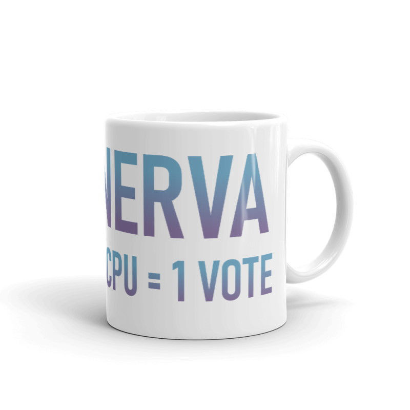 Nerva (XNV) - Coffee Mug - 1 CPU = 1 VOTE - 11 oz - 3