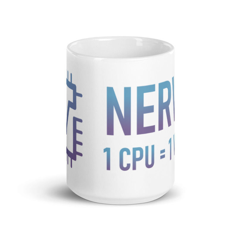 Nerva (XNV) - Coffee Mug - 1 CPU = 1 VOTE - 15 oz - 2