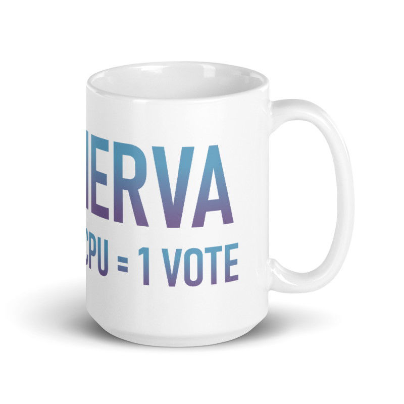 Nerva (XNV) - Coffee Mug - 1 CPU = 1 VOTE - 15 oz - 3