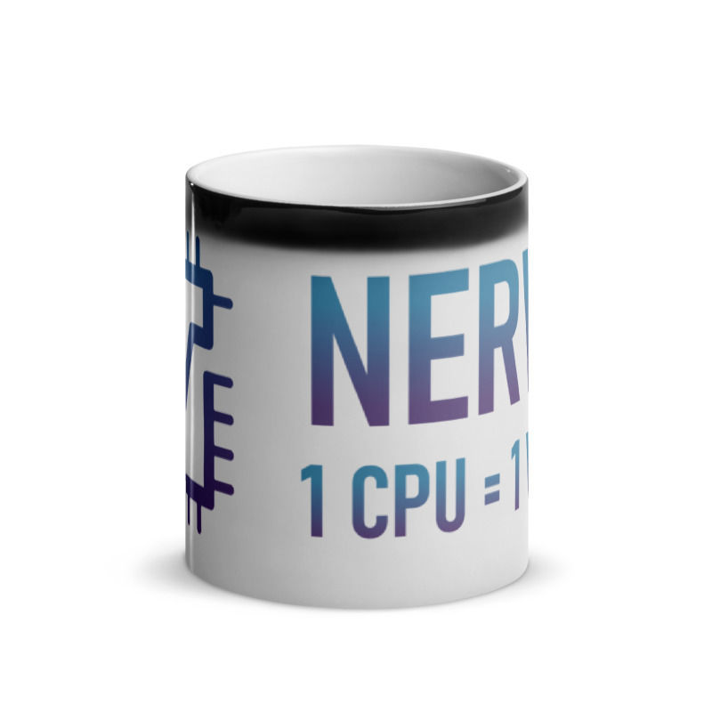Nerva (XNV) - Glossy Magic Coffee Mug - 1 CPU = 1 VOTE - Hot 2