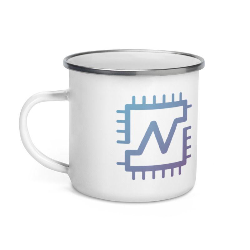 Nerva (XNV) - 12oz Enamel Coffee Mug - 1 CPU = 1 VOTE - 3
