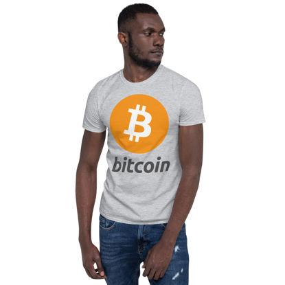 Bitcoin (BTC) - Unisex T-Shirt - Color Design - Sporty Grey