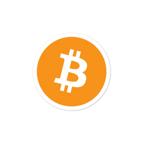 Bitcoin (BTC) bubble-free stickers - logo only - 3in