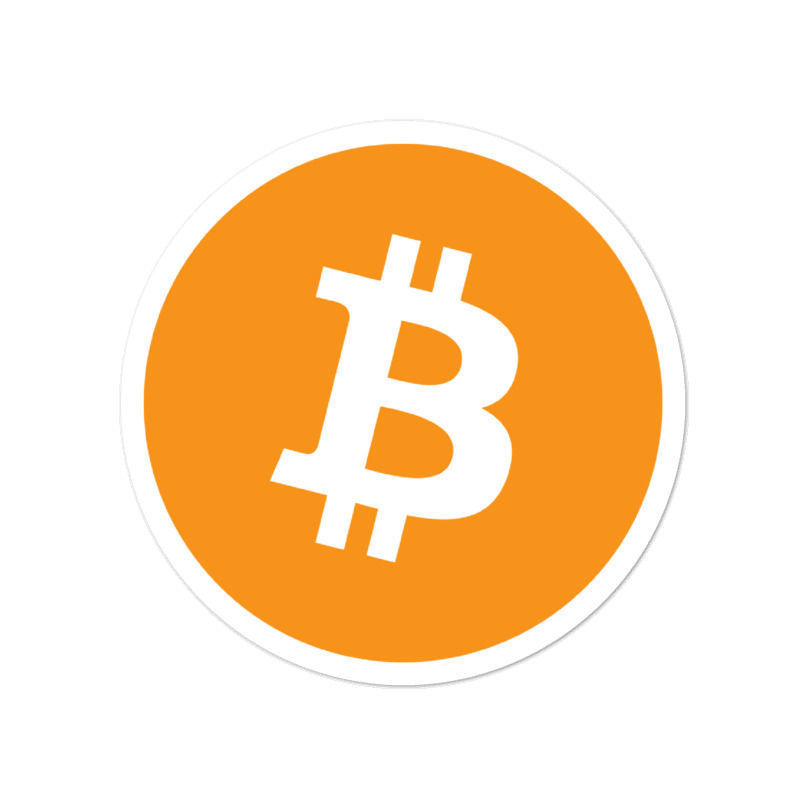 Bitcoin (BTC) bubble-free stickers - logo only - 4in
