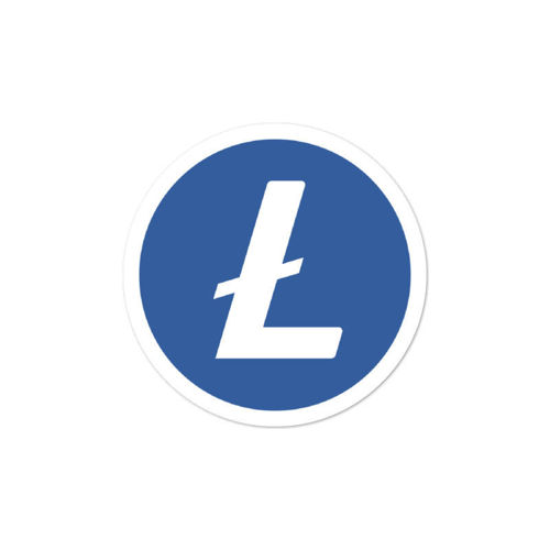 Litecoin (LTC)  bubble-free stickers - logo only - 3in