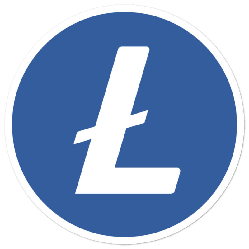Litecoin (LTC)  bubble-free stickers - logo only - 5in