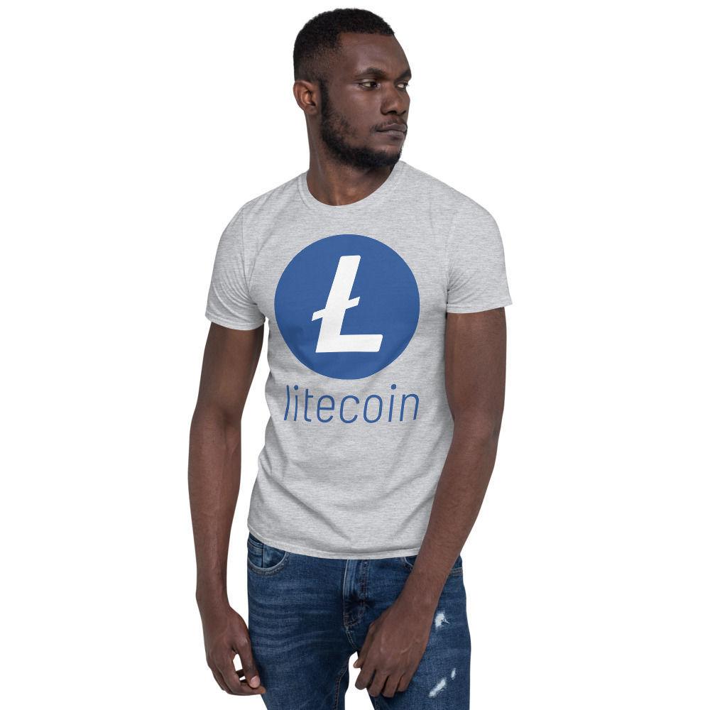 Litecoin (LTC) - unisex t-shirt - color design - sport grey