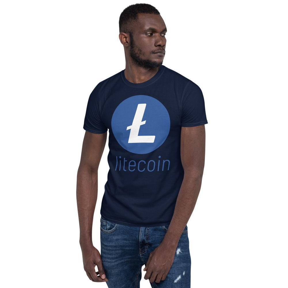 Litecoin (LTC) - unisex t-shirt - color design - navy