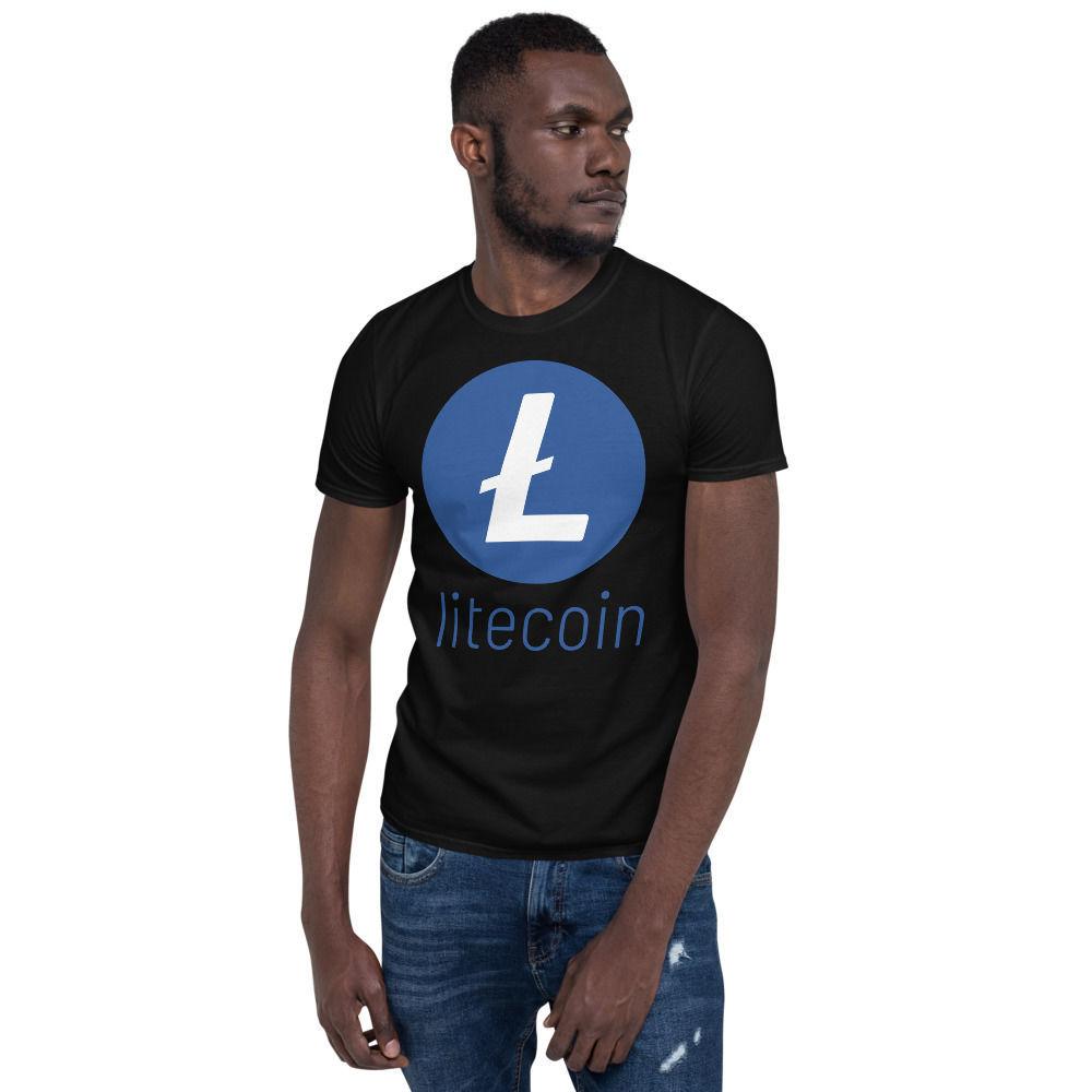 Litecoin (LTC) - unisex t-shirt - color design - black