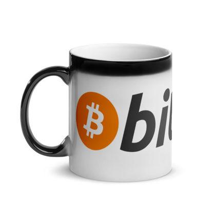 Bitcoin (BTC) - Glossy Magic Coffee Mug - Hot View 1