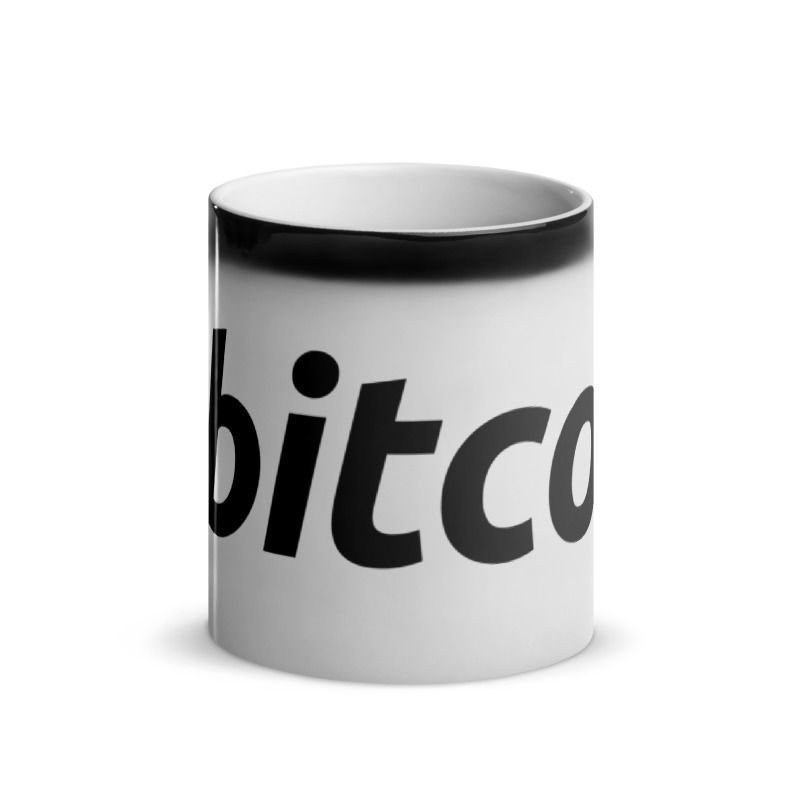 Bitcoin (BTC) - Glossy Magic Coffee Mug - Hot View 2