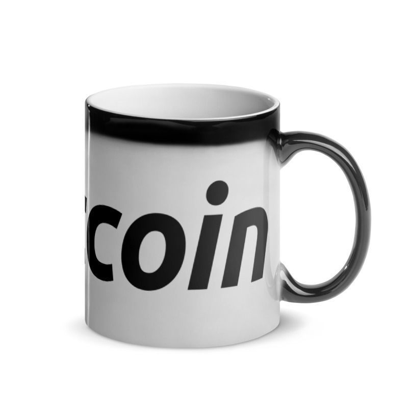 Bitcoin (BTC) - Glossy Magic Coffee Mug - Hot View 3