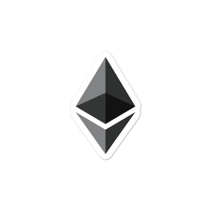 Ethereum (ETH) bubble-free stickers - logo only - 3in