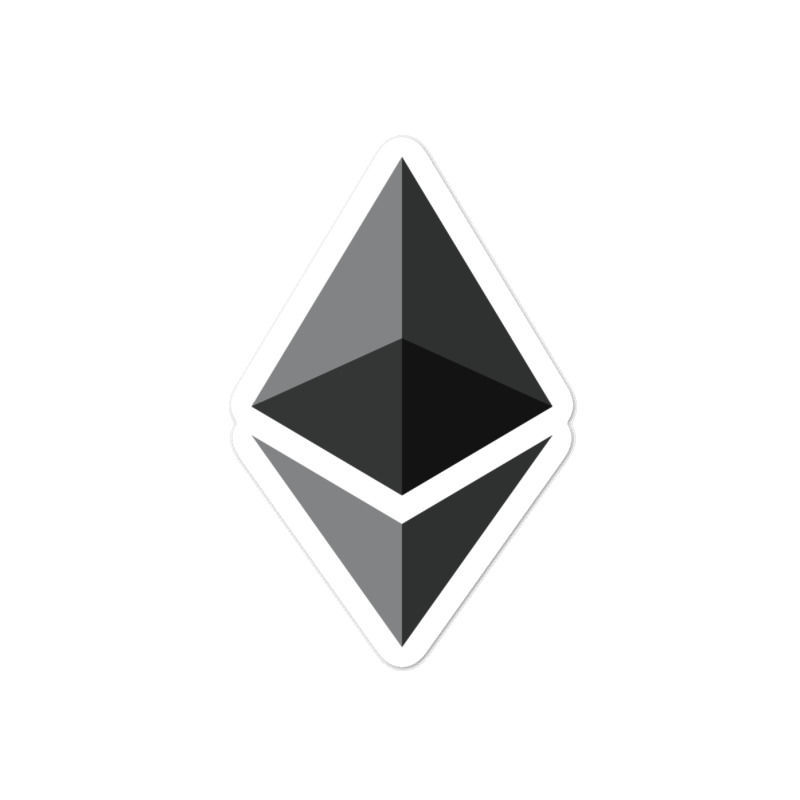Ethereum (ETH) bubble-free stickers - logo only - 4in