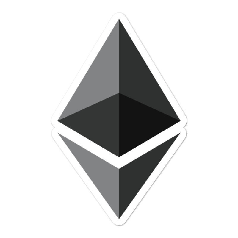 Ethereum (ETH) bubble-free stickers - logo only - 5in