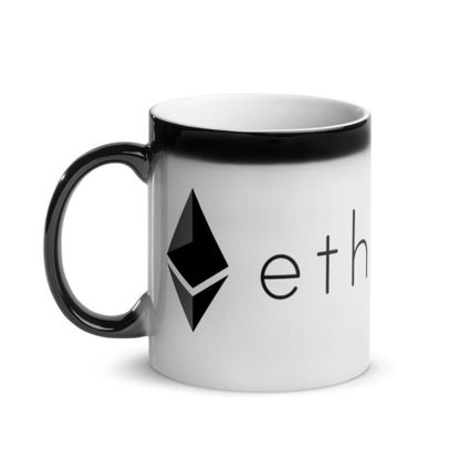 Ethereum (ETH) - Glossy Magic Coffee Mug - Hot View 1