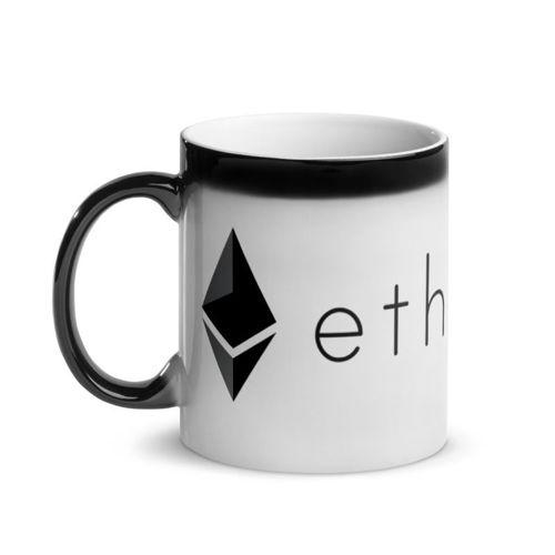 Ethereum (ETH) - Glossy Magic Coffee Mug - Hot View 1