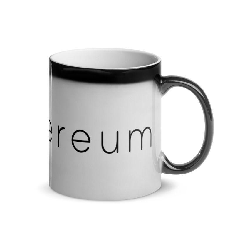 Ethereum (ETH) - Glossy Magic Coffee Mug - Hot View 3