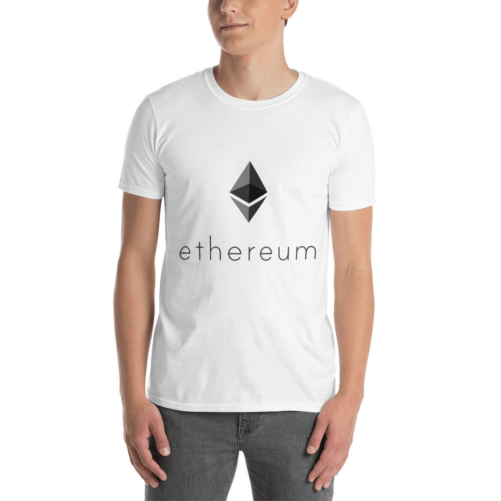 Ethereum (ETH) - Unisex T-Shirt - Color Design - White